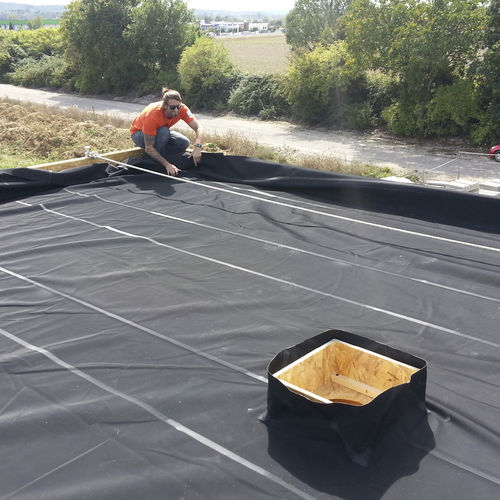roof waterproofing membrane / protection / flexible / EPDM