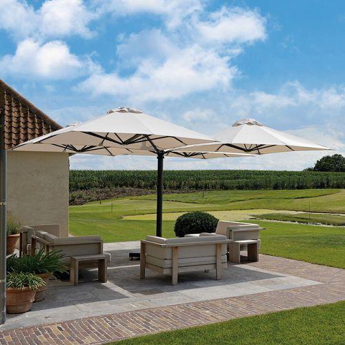 quadruple patio umbrella / commercial / for hotels / acrylic fabric