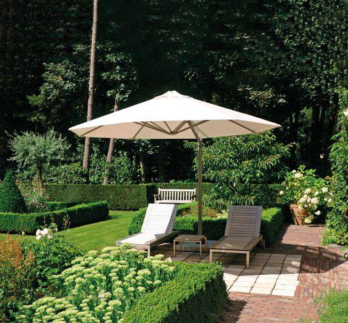 offset patio umbrella / acrylic fabric / aluminum / wind-resistant
