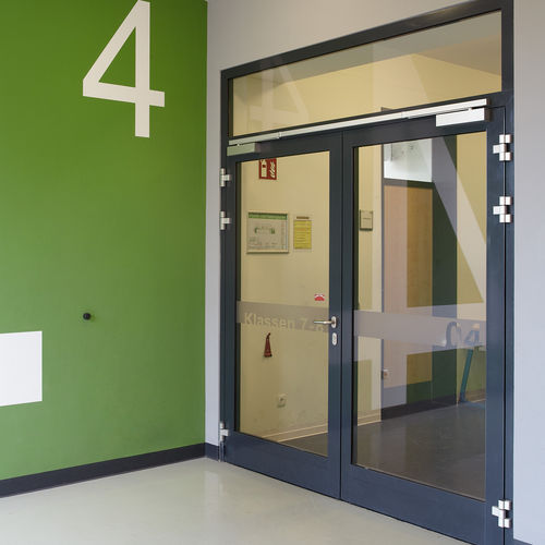 aluminum door profile / security / thermally-insulated / fire-rated