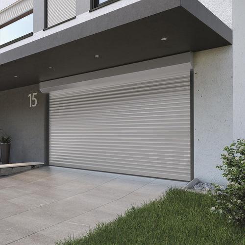 roll-up garage door / aluminum / automatic
