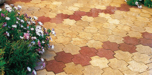 concrete paver / pedestrian / made from recycled materials
