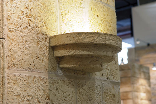 traditional wall light / stone