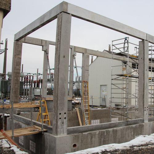 precast concrete beam / rectangular / for flooring / large-span
