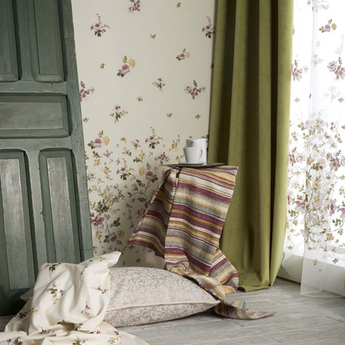 upholstery fabric / for curtains / wall / plain