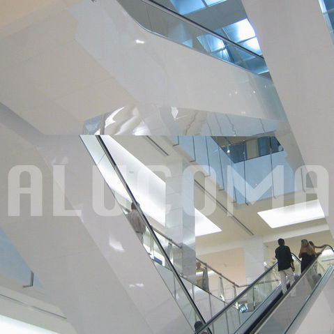 cover decorative panel / aluminum / composite / for interior