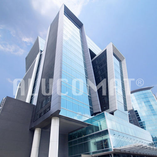 aluminum cladding / composite / grooved / panel