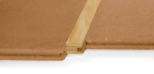 thermal-acoustic insulation / wood fiber / for flooring / panel