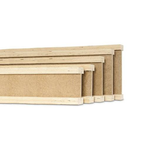 load-bearing beam / laminated veneer lumber / I / for flooring