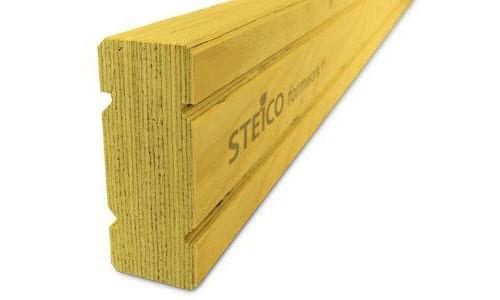 laminated veneer lumber beam / I / for formwork / for civil engineering