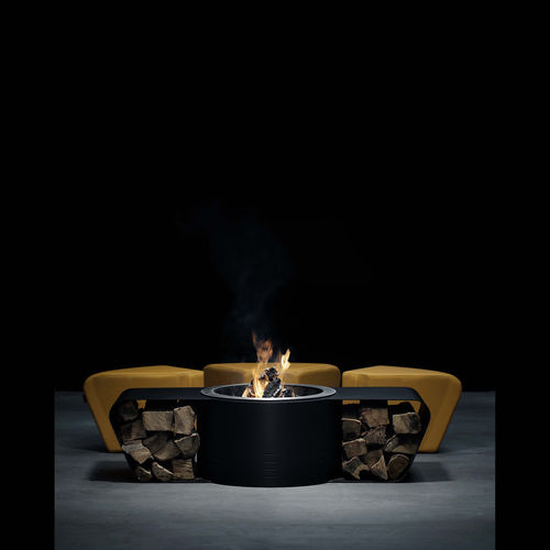 wood-burning fire pit / bioethanol / solid fuel / gas
