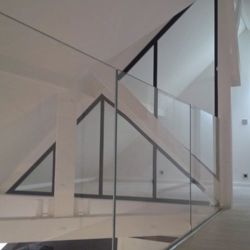 fixed partition / steel / glazed / home