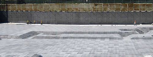 protection waterproofing membrane / for foundations / roll / composite