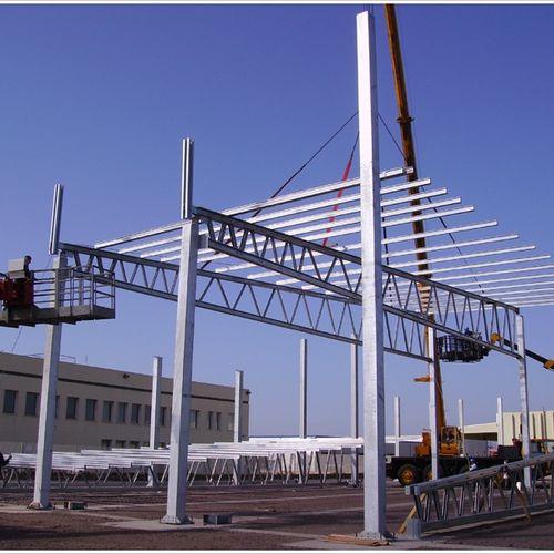 prefab beam / galvanized steel / rectangular / lattice