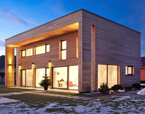 prefab house / contemporary / larch / two-story