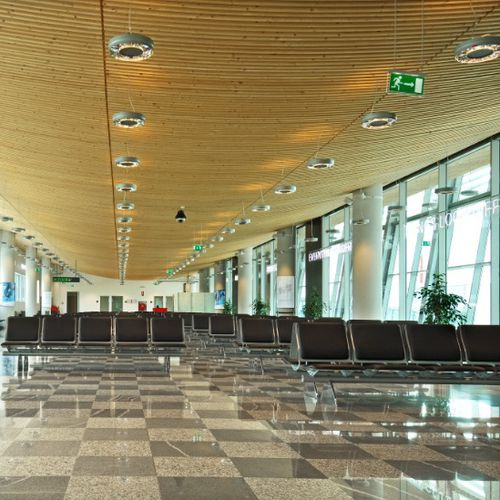wooden suspended ceiling / tile / curved