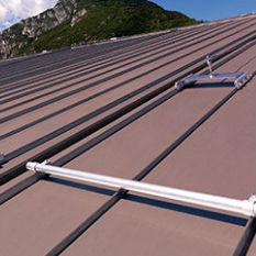 zinc-titanium roofing / colored / standing seam / ribbed