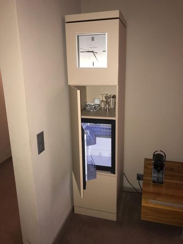 minibar with integrated clock / French door / commercial