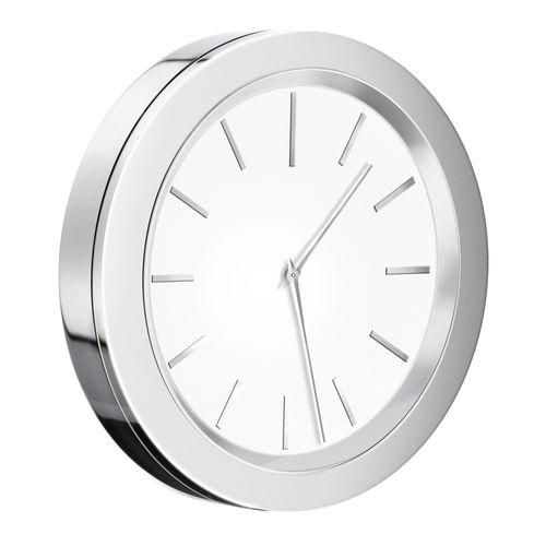 contemporary clock / analog / wall-mounted / brass