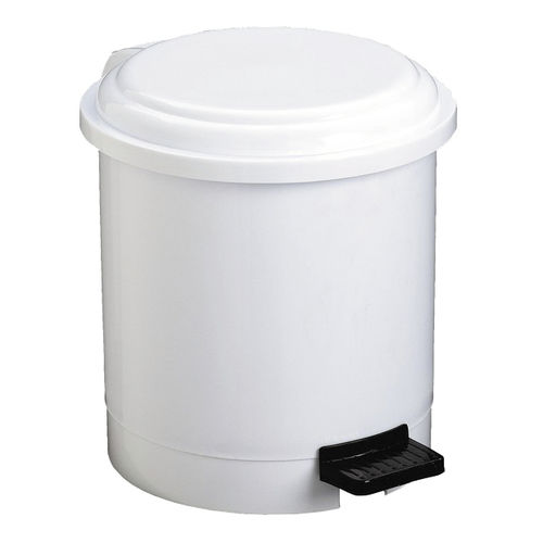 hygienic trash can / metal / ABS / foot-operated