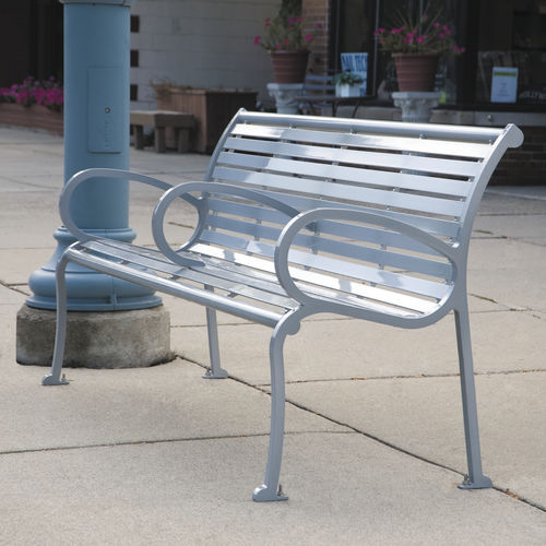 public bench / classic / ipe / steel