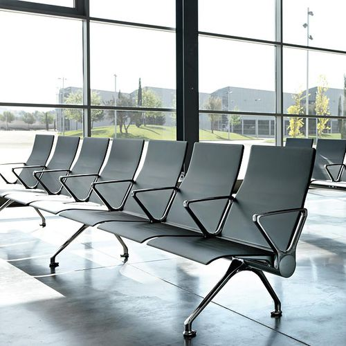 metal beam chair / 4-seater / 5-person / multiplace