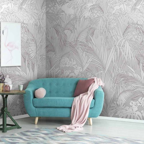 original design wallpaper / floral / nature pattern / panoramic