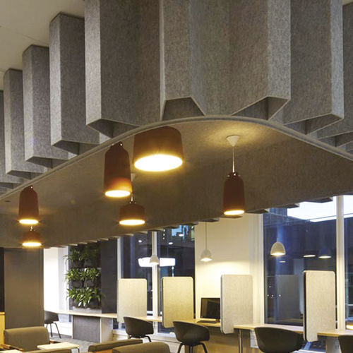 ceiling acoustic panel / wall / PET / commercial