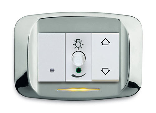 light dimmer switch / push-button / recessed / plastic