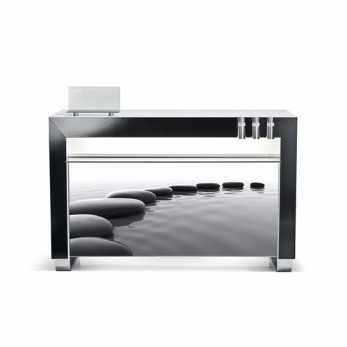 modular reception desk / wooden / glass / acrylic glass