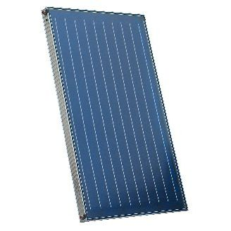 flat solar thermal collector / for water heating / insulated