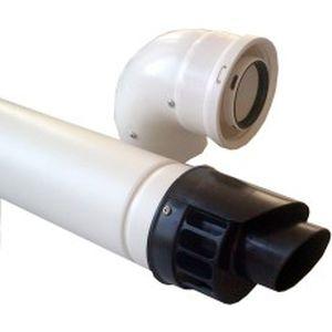 metal smoke flue / polypropylene
