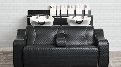 synthetic leather shampoo chair