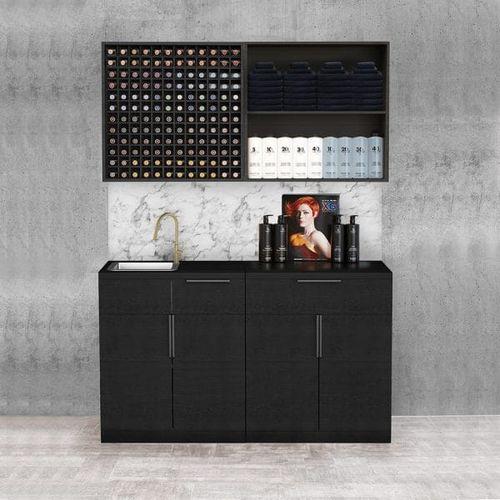 hairdresser cabinet with washbasin