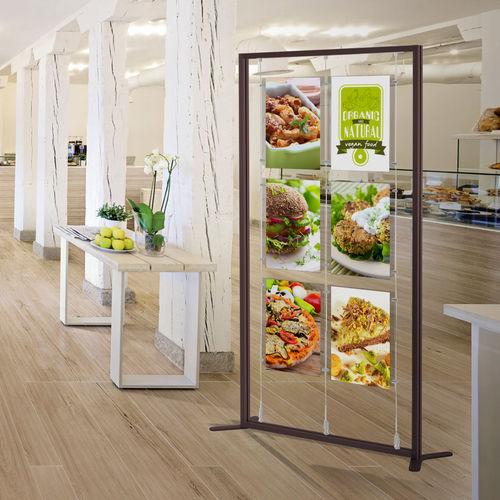 aluminum display rack / Plexiglas® / for shops / for hairdressers