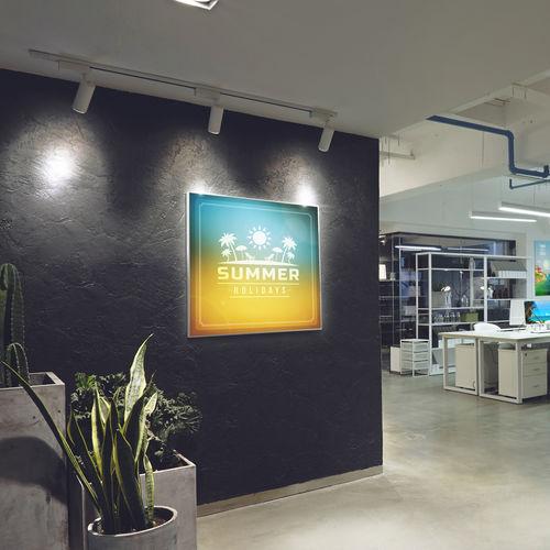 wall-mounted LED panel / luminous fabric