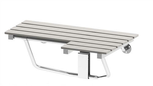folding shower seat / commercial / for healthcare facilities