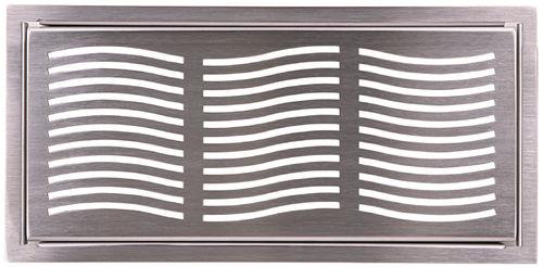 stainless steel ventilation grill / rectangular
