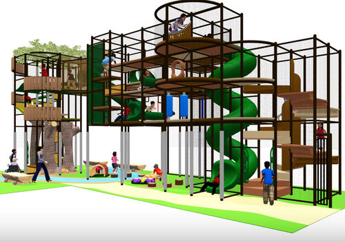 playground play structure / for public buildings / plastic / metal