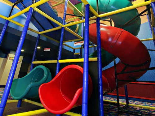 curved slide / for playgrounds / tube