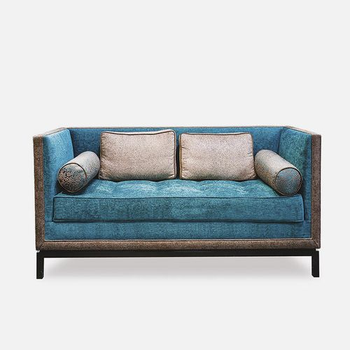 contemporary sofa / fabric / for hotels / 2-person