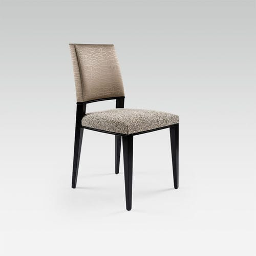 contemporary chair / fabric / beech / commercial