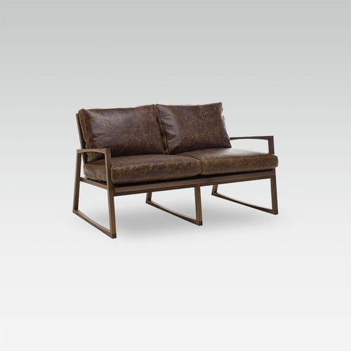 contemporary sofa / leather / for hotels / for restaurants