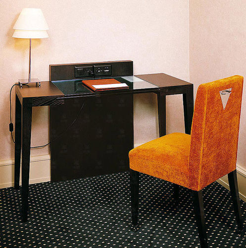 ash desk / contemporary / for hotels