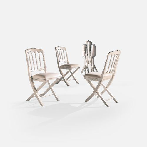 folding conference chair / upholstered / beech / fabric