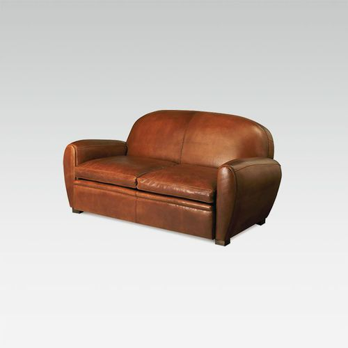 traditional sofa / leather / for hotels / 3-seater