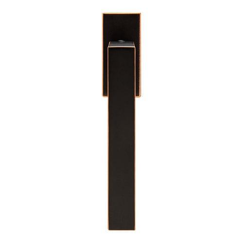 door handle / bronze / contemporary / satin finish