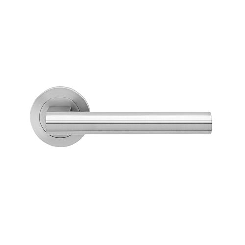 door handle / stainless steel / contemporary / commercial