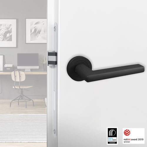 door handle / stainless steel / contemporary / satin finish