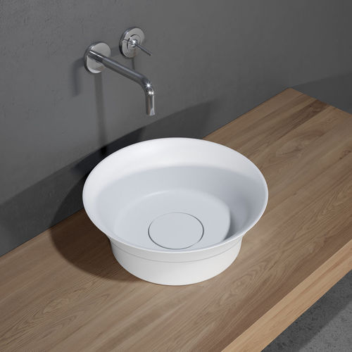 countertop washbasin / round / Solid Surface / contemporary